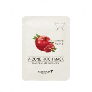 SkinFood Pomegranate Collagen V-Zone Patch Mask 2 packs