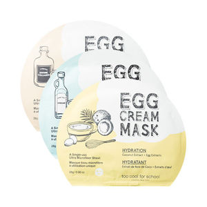 too cool for school EGG CREAM MASK 2 sheets