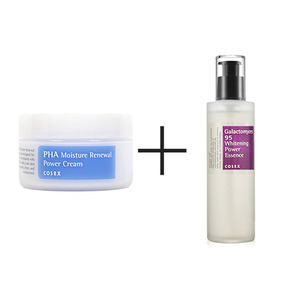 COSRX PHA Moisture Renewal Power Cream 50ml + Galactomyces 95 Whitening Power Essence 100ml
