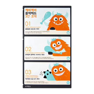 A'PIEU Goblin Blackhead 3-Step Nose Pack 3ea