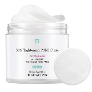 TOSOWOONG SOS TIghtening PORE Clinic All-In-One Tightening Pore Pads 70ea