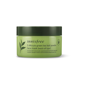 innisfree 5-Minute Green Tea Leaf Powder Face Mask [Wash-Off Type] 70g