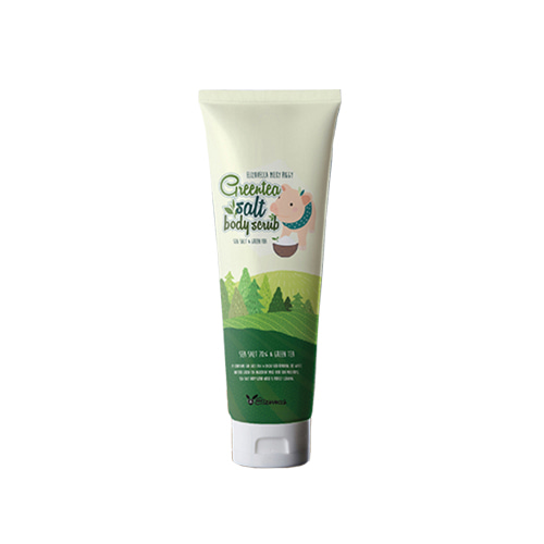 Elizavecca Milky Piggy Greentea Salt Body Scrub 300ml